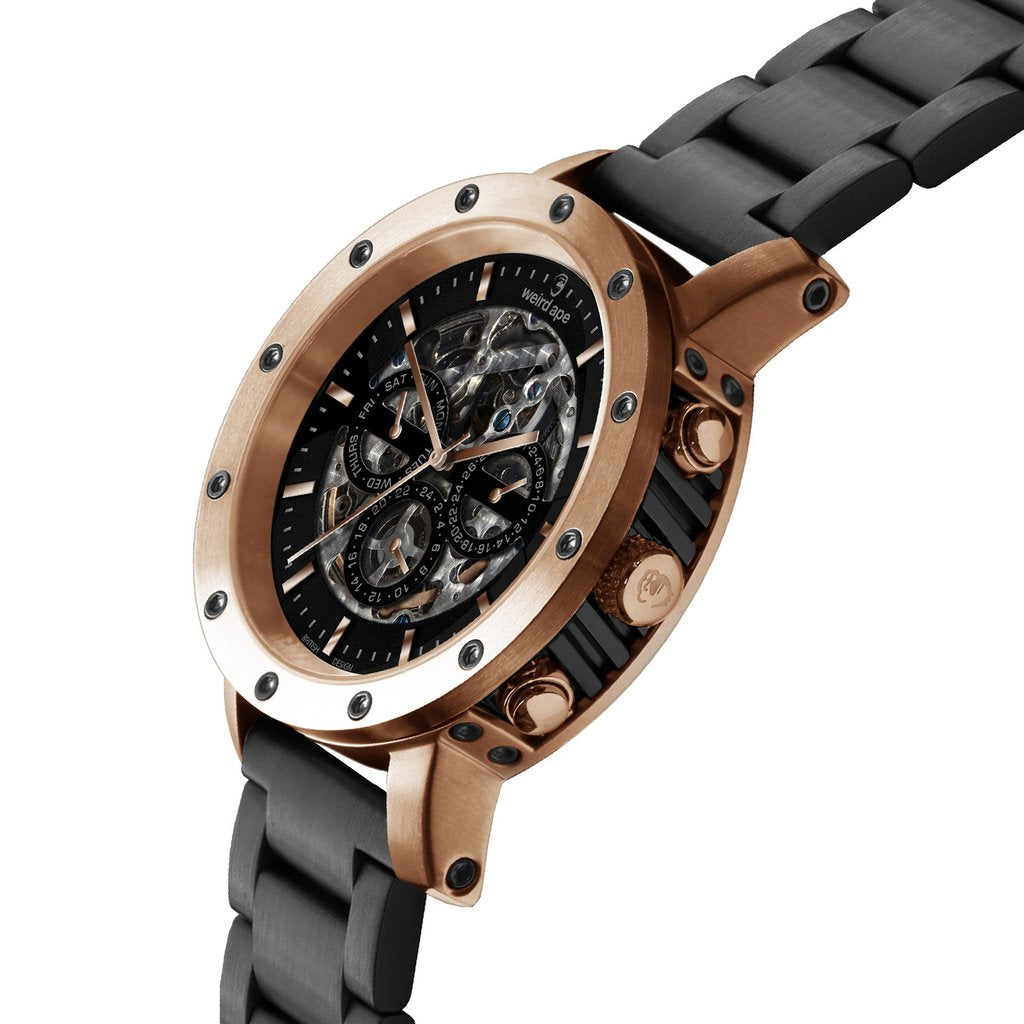Icarus 3-Dial - Black Rose Gold / Black Link