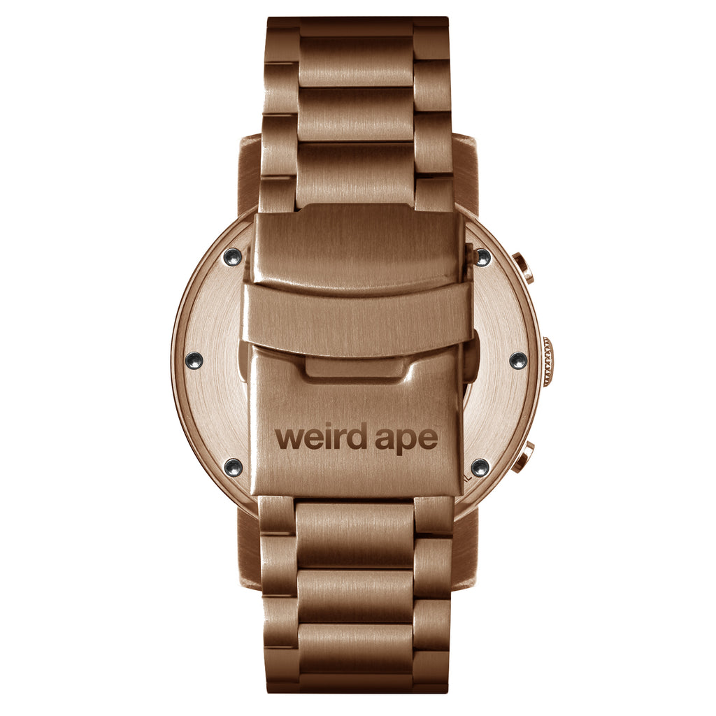 Weird Ape Icarus 3-Dial - Men's Rose gold skeleton watch with Rose gold strap