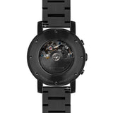 Weird Ape Icarus 3-Dial - Men's Black skeleton watch with Black strap