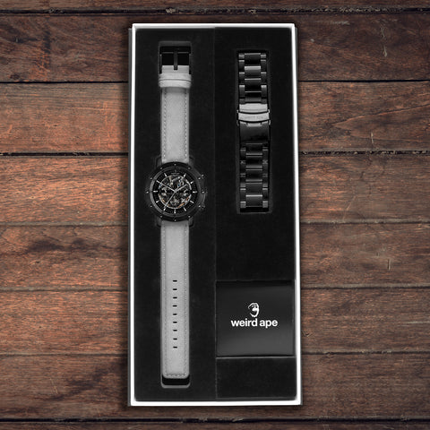 Weird Ape Icarus 3-Dial All Black Gift Box