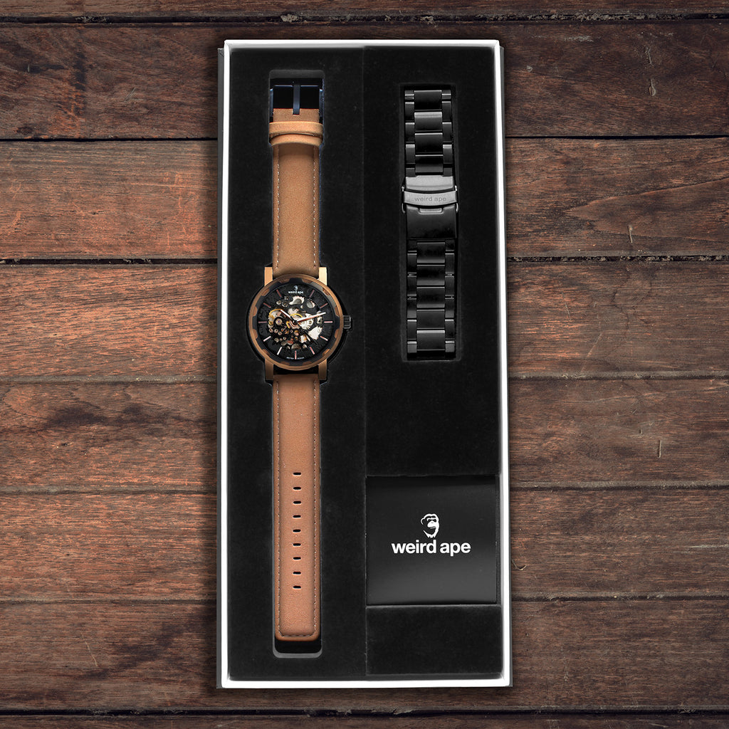Kolt Black Rose Gold Gift Box