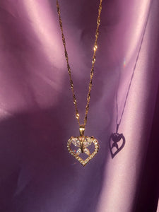 Lovely Butterfly Heart Necklace - ShopStarCrew