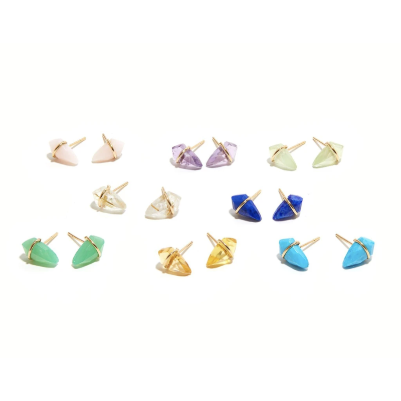 18K Gold Kite Studs -Tiny