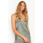 Silk Charmeuse Cami in Olive
