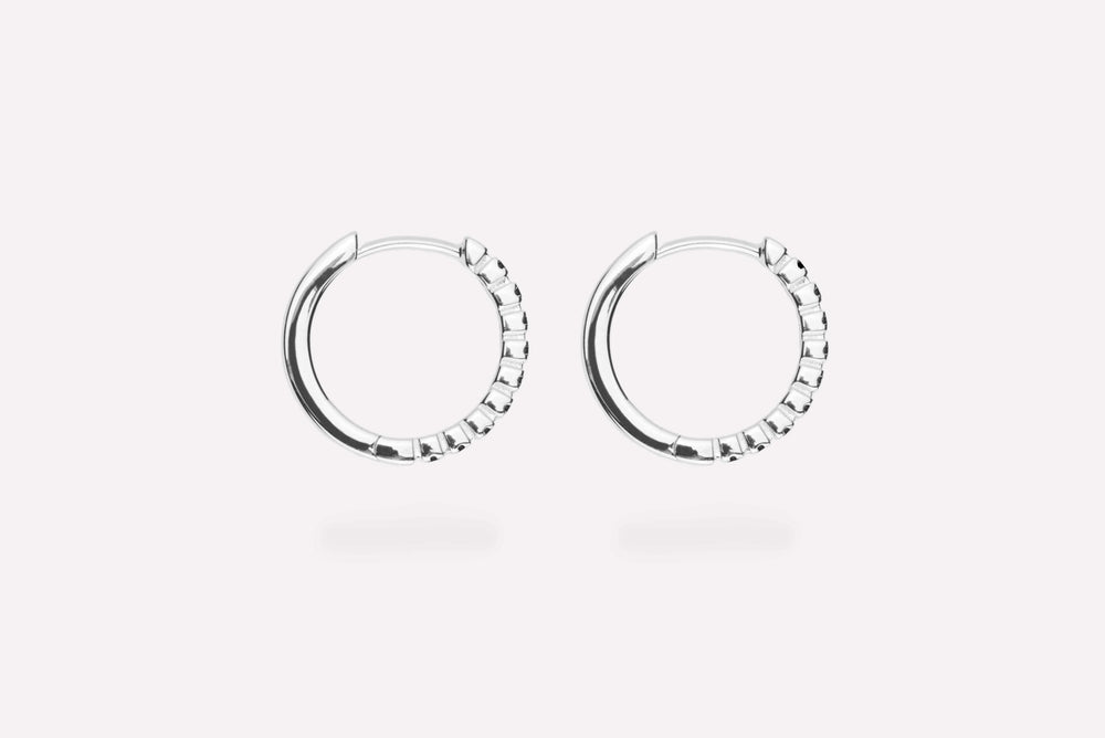 IX ETERNITY BLACK EARRINGS SILVER