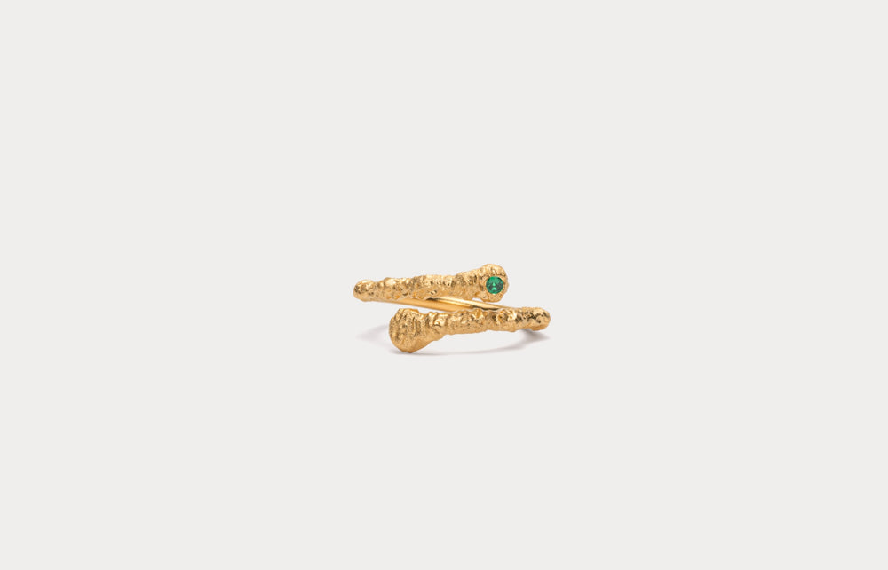 IX Crunchy Green Nature Ring