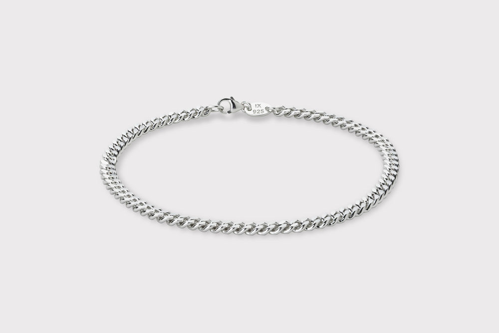 IX Curb Anklet Silver