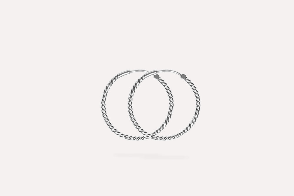 IX Rope Earrings Silver