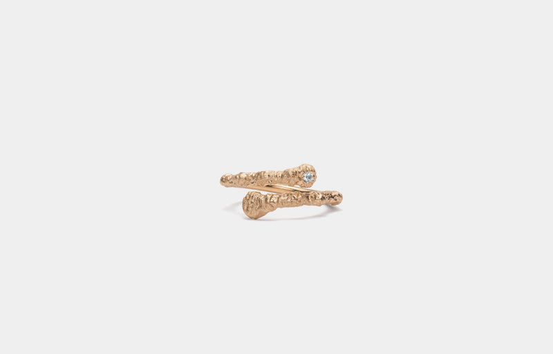 IX Crunchy diamond Nature Ring Gold