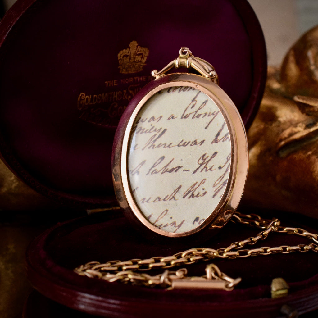 Antique 9ct Rose Gold Double Sided Locket Circa 1910