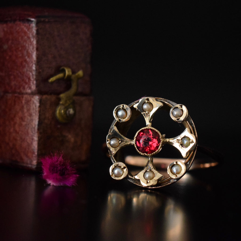 Early Edwardian 9ct Rose Gold Ring Circa 1910