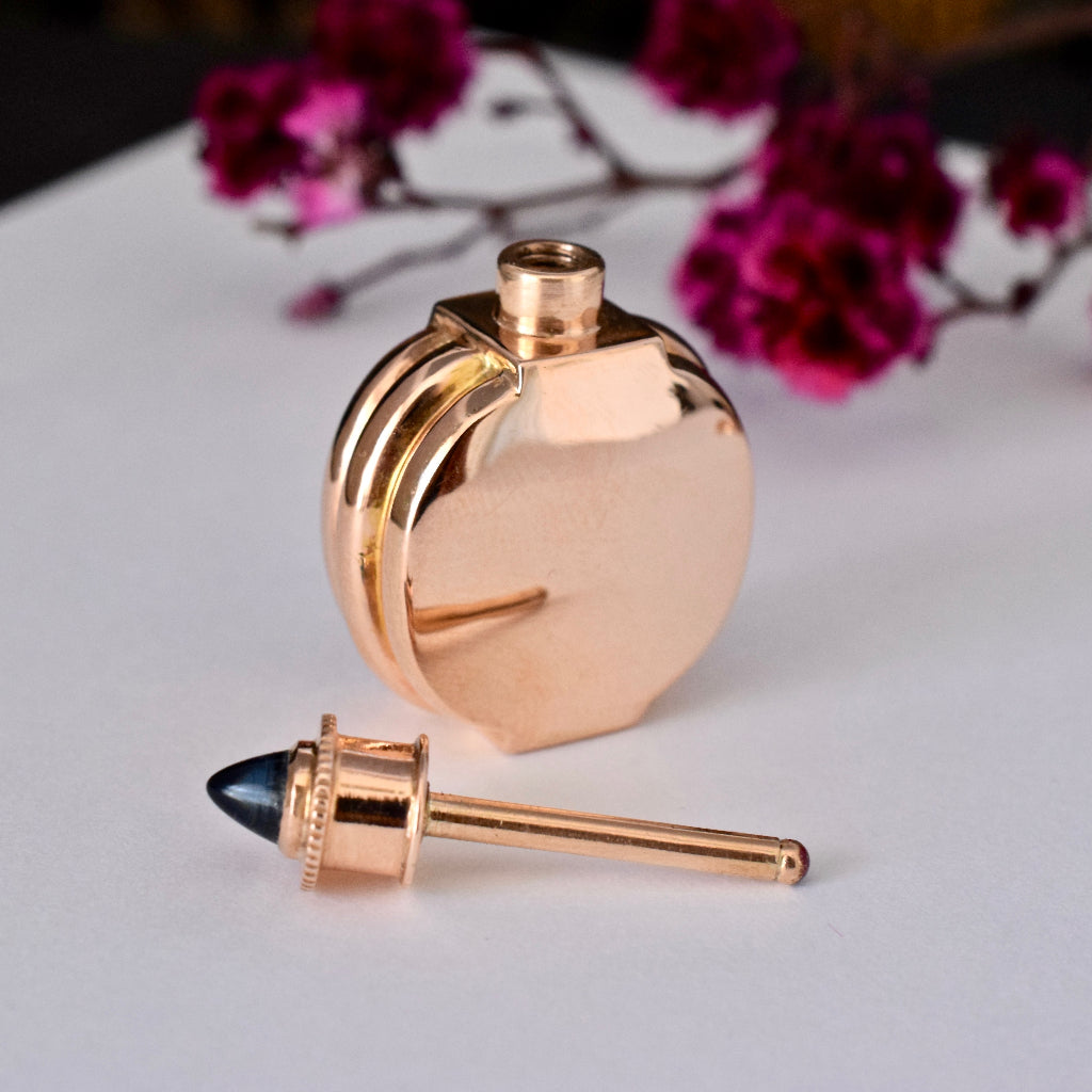 Superb 18ct Rose Gold Perfume Bottle/Dropper