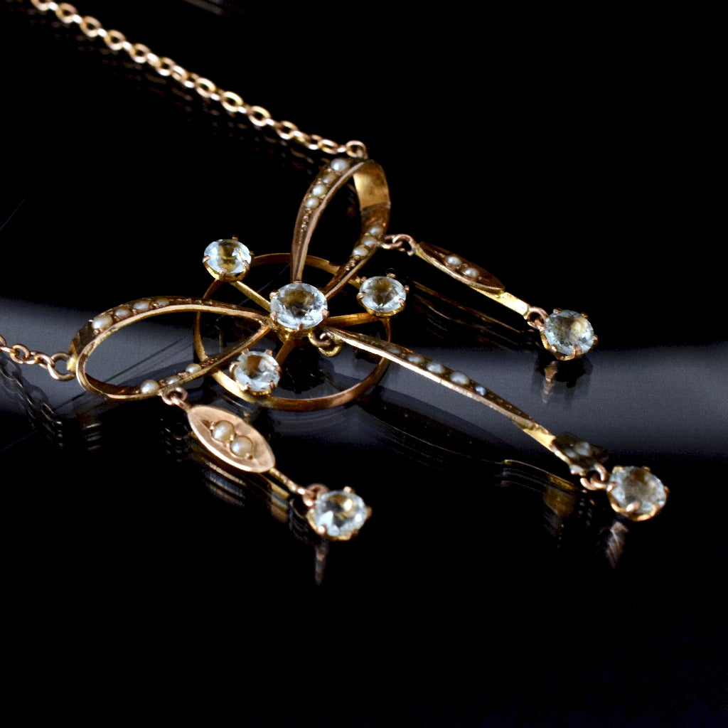 Edwardian / Belle Epqoque 'Bow' Lavaliere Circa 1915