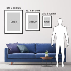 Image of size dimensions of portrait frame sizes