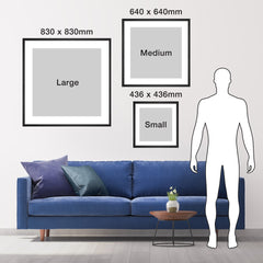 Image of size dimensions of square product options