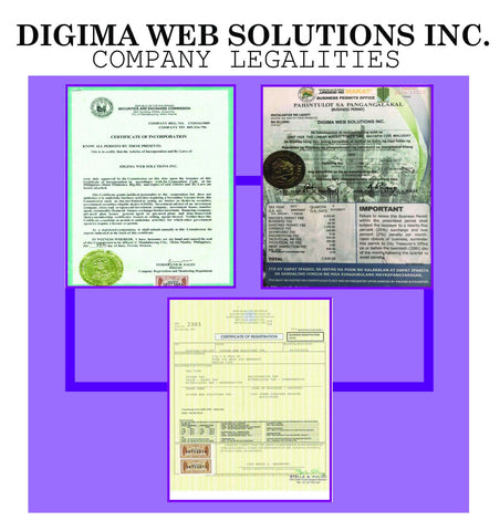 Digima Web Solutions Legalities