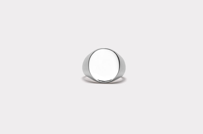 IX Oval Signet Ring Silver