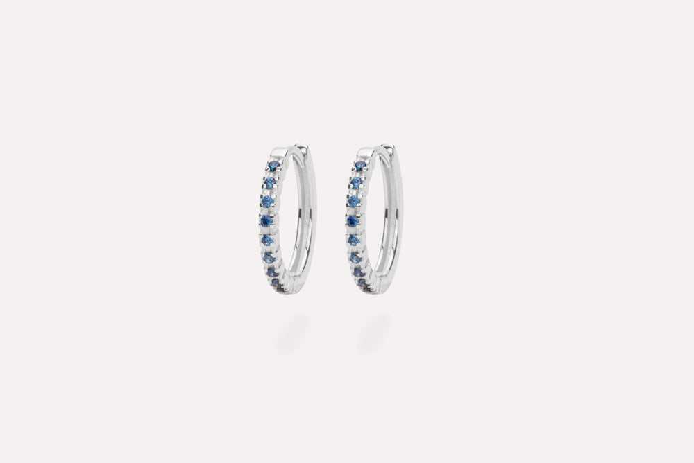 IX ETERNITY BLUE EARRINGS SILVER