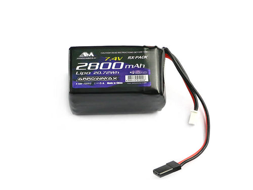 Arrowmax AM-700913 Lipo 2800mAh 2S TX/RX 7.4V Hump Pack