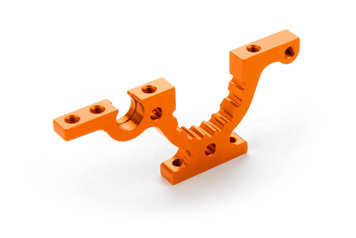 Xray 302764-O T4F Alu Lower Adjustment Bulkhead Front Right - Orange