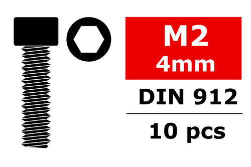 Team Corally - Socket Head Screw - DIN 912 - M2x4 - 10 pcs