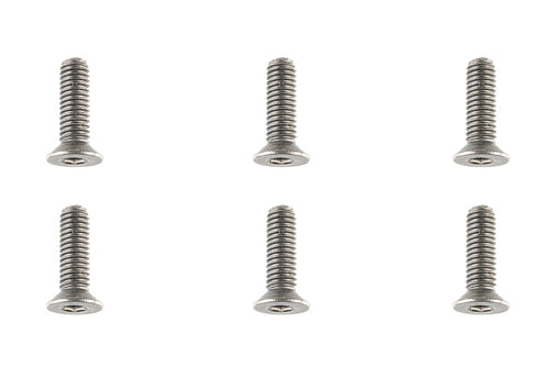 Team Corally - Titanium Screws M3 x 10mm - Hex Flat Head - 6 pcs