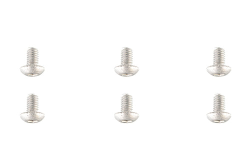 Team Corally - Titanium Screws M3 x 6mm - Hex Button Head - 6 pcs