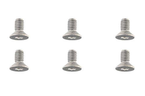 Team Corally - Titanium Screws M4 x 8mm - Hex Flat Head - 6 pcs