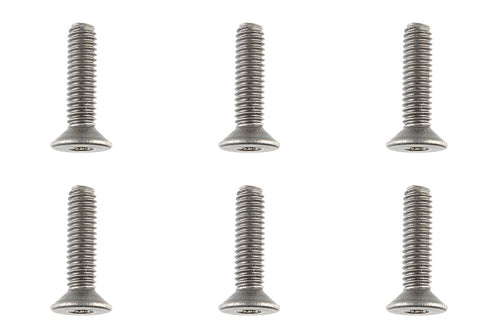 Team Corally - Titanium Screws M4 x 16mm - Hex Flat Head - 6 pcs