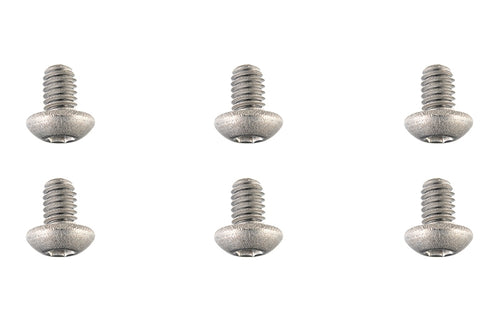 Team Corally - Titanium Screws M4 x 6mm - Hex Button Head - 6 pcs