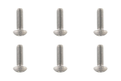 Team Corally - Titanium Screws M4 x 12mm - Hex Button Head - 6 pcs