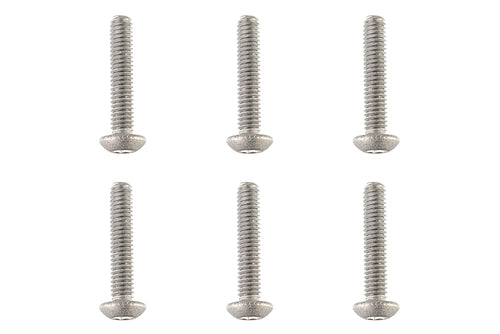 Team Corally - Titanium Screws M4 x 20mm - Hex Button Head - 6 pcs