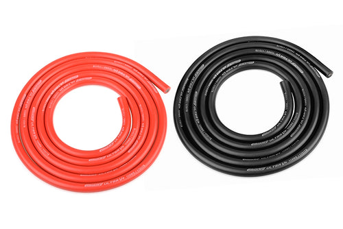 Team Corally - Ultra V+ Silicone Wire - Super Flexible - Black and Red - 12AWG - 1731 / 0.05 Strands - ODø 4.5mm - 2x 1m