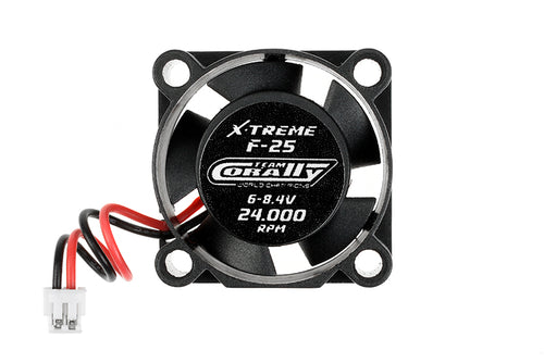 Team Corally - ESC Ultra High Speed Cooling Fan 25mm - 6v-8,4V - Dual ball bearings - ESC connector