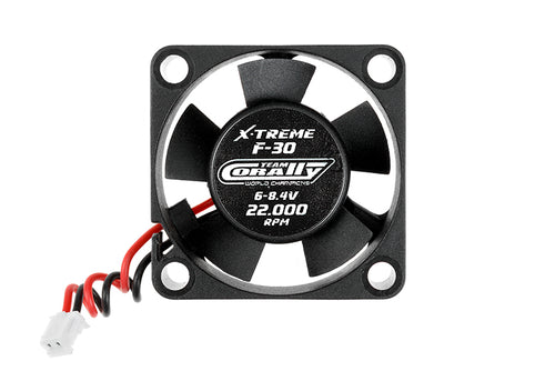 Team Corally - ESC Ultra High Speed Cooling Fan 30mm - 6v-8,4V - Dual ball bearings - ESC connector