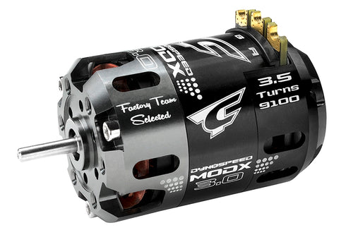 Team Corally - Dynospeed MODX 3.0 - 1/10 Sensored 2-Pole Competition Brushless Motor - Modified - 3.5 Turns - 9100 KV