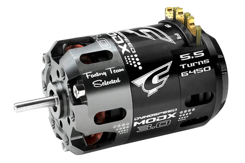 Team Corally - Dynospeed MODX 3.0 - 1/10 Sensored 2-Pole Competition Brushless Motor - Modified - 5.5 Turns - 6450 KV