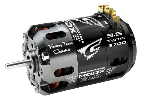 Team Corally - Dynospeed MODX 3.0 - 1/10 Sensored 2-Pole Competition Brushless Motor - Modified - 9.5 Turns - 3700 KV