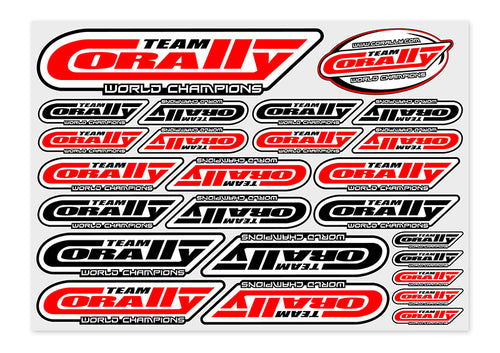 Team Corally - Sponsor Stickersheet CORALLY - Precut - 210x148mm - 1 pc