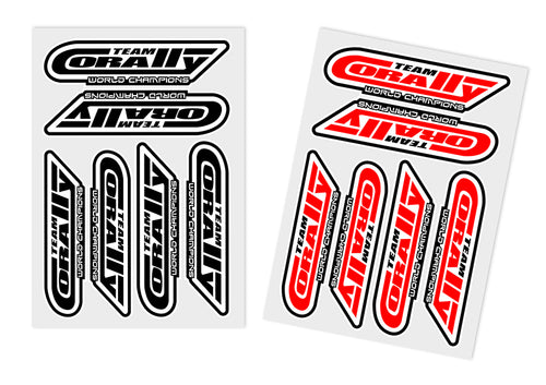 Team Corally - Sponsor Stickersheet CORALLY - Precut - 105x75mm - 2 pcs