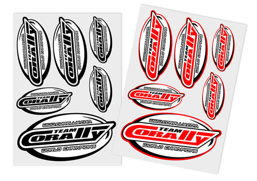Team Corally - Sponsor Stickersheet CORALLY - Precut - 105x148mm - 2 pcs