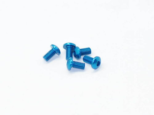 Arrowmax Alu Screw Allen Roundhead M3X6 Blue (7075) (5)