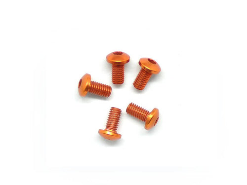 Arrowmax Alu Screw Allen Roundhead M3X6 Orange (7075) (5)