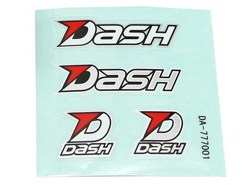 Dash Decal (70 X 70 mm) Black / White / Silver DA-777001