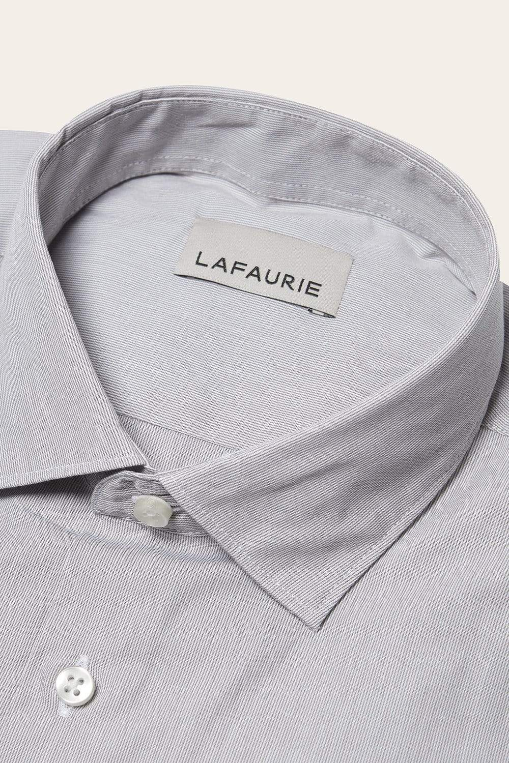 Chemise Texte - Blanc Taupe