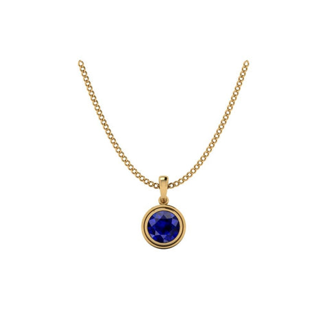 9k yellow gold adjustable pendant