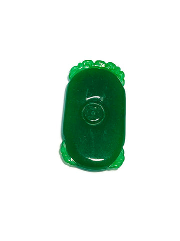Jade pendant in oval shape