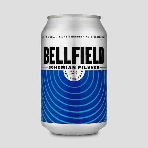 Bellfield Brewery - Bohemian Pilsner (330ml Can) - Edinburgh Booze Delivery