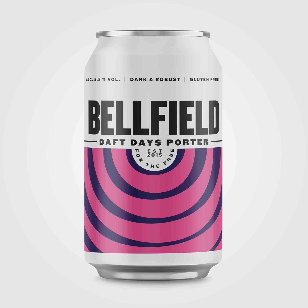 Bellfield Brewery - Daft Days Porter (330ml can) - Edinburgh Booze Delivery