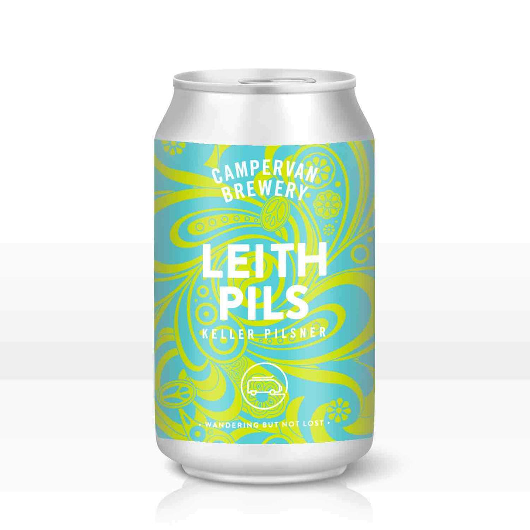 Campervan Brewery - Leith Pils (330ml Can) - Edinburgh Booze Delivery